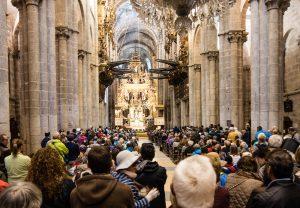 E-Bike Reisen entlang des Jakobweges - Pilgermesse in der Kathedrale von Santiago de Compostela