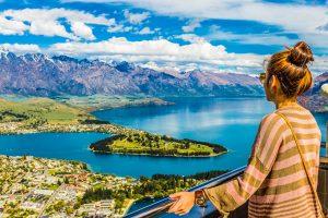 E-Bike Reisen in Neuseeland - Blick auf Queenstown