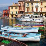 Malcesine Sehenswürdigkeiten - Hafen Panorama Gardasee