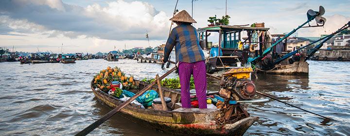 Vietnam Sehenswürdigkeiten - Cai Be – der schwimmende Markt