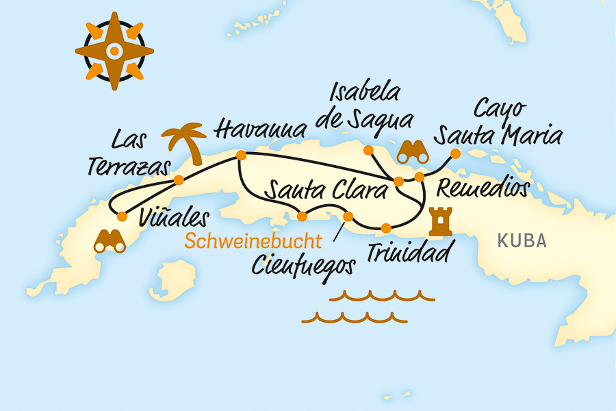 Kuba Karte Rundreise.Kuba Rundreise Mit Dem Fahrrad E Bike Reise Online Buchen