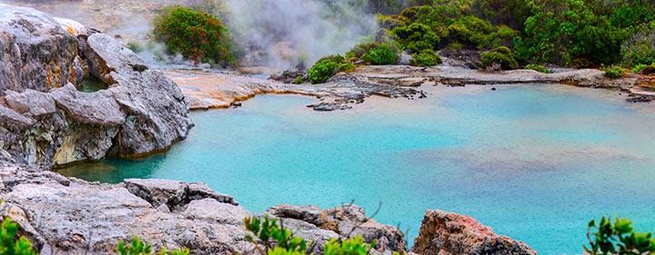 Neuseeland Reise - sprudelnde Geysire und Schlammlöcher Rotorua
