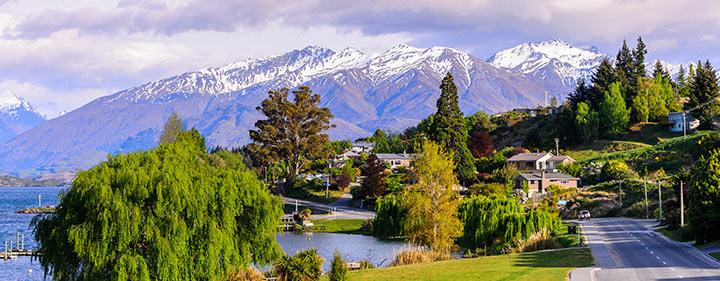 Neuseeland Reise - Ort Wanaka am Lake Wanaka