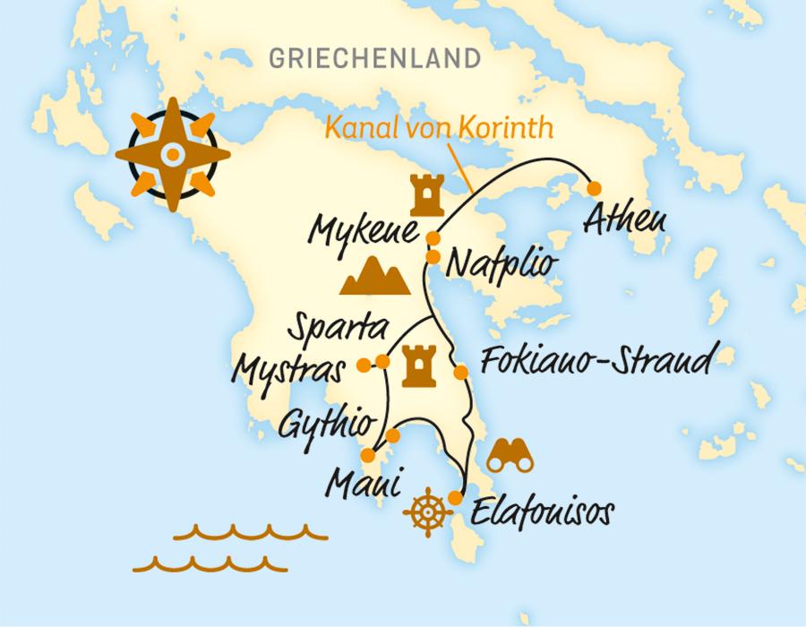 Karte Griechenland Peloponnes.Peloponnes Eine Radreise Durch Griechenlands Mythos Belvelo