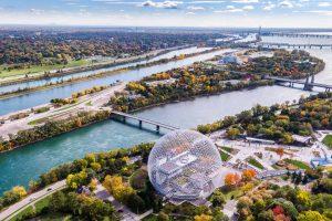 E-Bike-Kanada - Montreal aus der Luft
