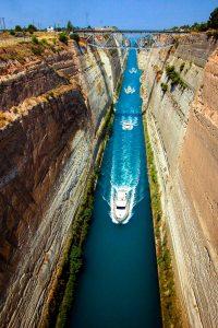 Griechenland per E-Bike mit Belvelo - Kanal von Korinth